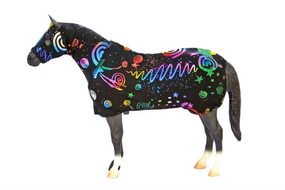 a horse in space clothing